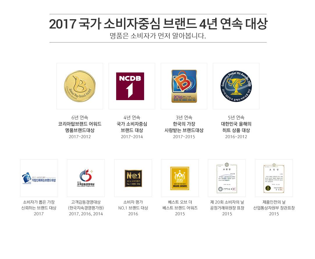 2017 국가 소비자중심 브랜드 4년 연속 대상